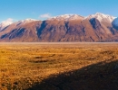 View from Edoras, Rangitata Valley Gorge, New Zealand - panorama